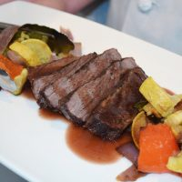 Bistro Steak With Mirin Redction Roasted Vegetables