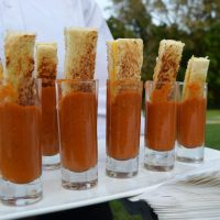 Grilled Cheese Tomato Soup Shooter