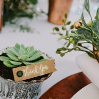 White Copper Greenery Tabletop