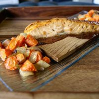 Faroe Island Salmon with Maple Bacon Glaze  - catering menu item