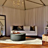 White Leather In Bridal Cabana 1
