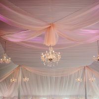 Chandeliers With Tent Liner Draping