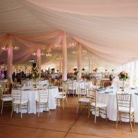 Chandeliers With Tent Liner, Photo: Matt & Ashley Photography