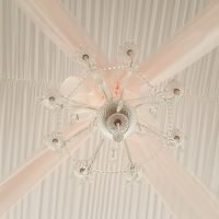 Tent Liner And Chandelier With Draping