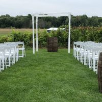 White 4 Post Chuppah