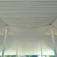 Tent Liner Ceiling With Chandeliers